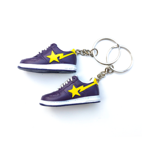 A Bathing Ape Bapesta Low Mini Sneaker Key Chain
