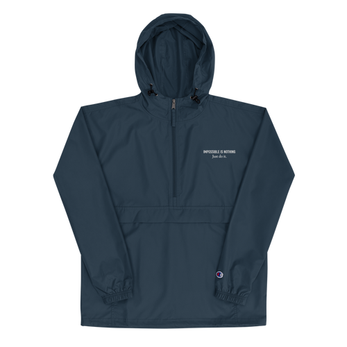 Impossible is Nothing - Embroidered Champion Packable Jacket