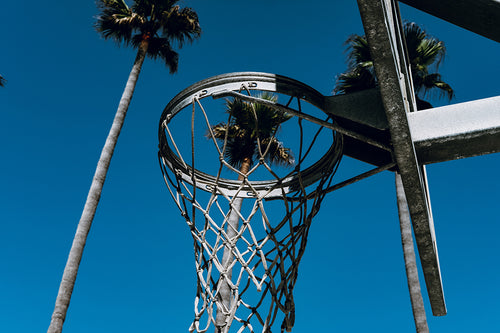 Basketball Hoop In Huntington Beach California