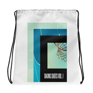 Taking Shots Ball Drawstring Bag