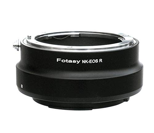 Fotasy Pro Nikon Lens to EOS R Adapter, Adapter for EOS R RP Nikon Lens, Compatible with Nikon F Mount Lens & Canon EOS R Full Frame Mirrorless Camera EOS R EOS RP