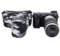 Fotasy OC-S3GR Camouflage Mirrorless Camera Pouch Case for Sony A6500/A6300/A6000/A5100/A5000 with 55-210mm Lens, Fujifilm X-M1/X-T10/X-T20 with 55-200mm Lens