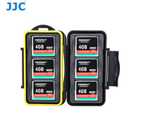 JJC MC-CF6 Water Resistant Memory Card Hard Case for 6 Pcs CF Cards with Lock