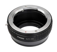 Fotasy Contax CY Lens to Fuji X Adapter, Compatible with C/Y Contax/Yashica Lens and Fujifilm X-Mount Mirrorless Cameras X-Pro1 X-Pro2 X-E1 X-E2 X-E3 X-A5 X-M1 X-T1 X-T2 X-T3 X-T10 X-T20 X-T30 X-H1