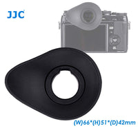 JJC Oval Shape Large Eyecup for Fuji X-T1 X-T2 X-T3 X-H1 GFX-50S Camera, Ergonomic Oval Soft TPU Rubber Eyecup fits X-T1 X-T2 X-T3 X-H1 GFX-50S, Replaces EC-XT L/EC-GFX/EC-XT M/EC-XT S and EC-XH W