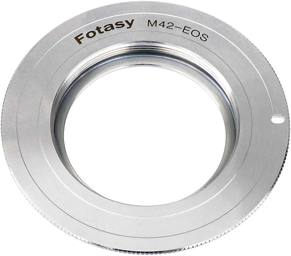 Fotasy Copper M42 Lens to Canon Adapter, M42 to Canon Adapter, Infinity Focus, Fits Canon DSLR 6D, 5D Mark IV III II 1Ds 1D Series 7D II 7D 80D 70D 60D 50D 1300D 1200D 1100D 1000D 760D 750D 700D 650D