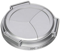 JJC ALC-LX100 Silver Self-Retaining Auto Open Close Lens Cap for Panasonic LUMIX DMC-LX100 and Leica D-LUX(Typ 109) Camera Replaces DMW-LFAC1