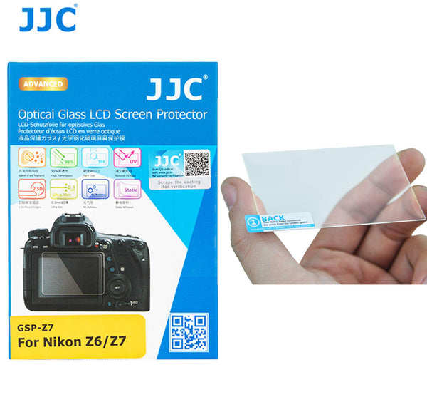 JJC GSP-Z7 LCD Screen Protector for Nikon Z6 Z7, Ultra-Thin, Multi-Coated, 9H Hardness, Tempered Glass Protector for Z7 Z6