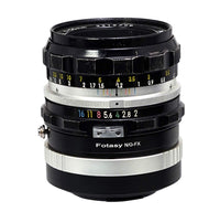 Fotasy Copper Nikon G lens to Fuji X Lens Adapter - Compatible with Nikon GF AFS Lens and Fujifilm X-Mount X-Pro1 X-Pro2 X-E1 X-E2 X-E3 X-A5 X-M1 X-T1 X-T2 X-T3 X-T10 X-T20 X-T30 X-H1 Cameras