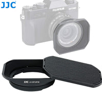 JJC LH-JXF16F28 Bayonet Metal Lens Hood for Fujinon XF 16mm F2.8 Lens, Fuji XF 16mm F2.8 Lens Hood, Compatible with FUJIFILM XF 16mm f/2.8 R WR Lens, with Slide Design Hood Cap