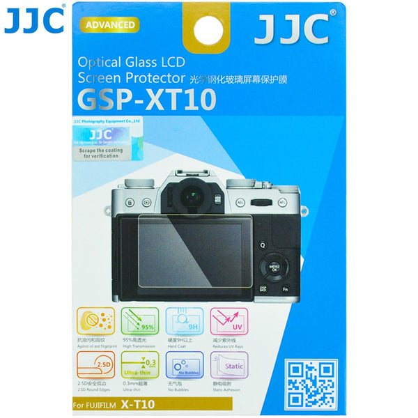 "JJC 0.01"" Ultra-thin Optical Glass LCD Screen Protector for Fujifilm X-T100 X-T30 X-T20 X-T10 X-E3, Fuji X-T100 X-T30 X-T20 X-T10 X-E3 LCD Protector, 9H, Water Oil & Fingerprints Resistant"