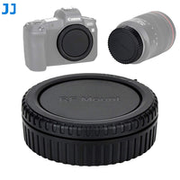 JJC Camera Body Cap Rear Lens Cap for Canon EOS R EOS RP, Canon EOS R Mount Body Cap Lens Rear Cap Cover, Replacement of Canon R-F-5 Body Cap RF Rear Lens Cap
