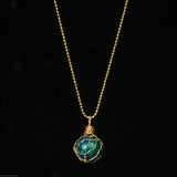 Earth Marble Necklace  -Buddha-