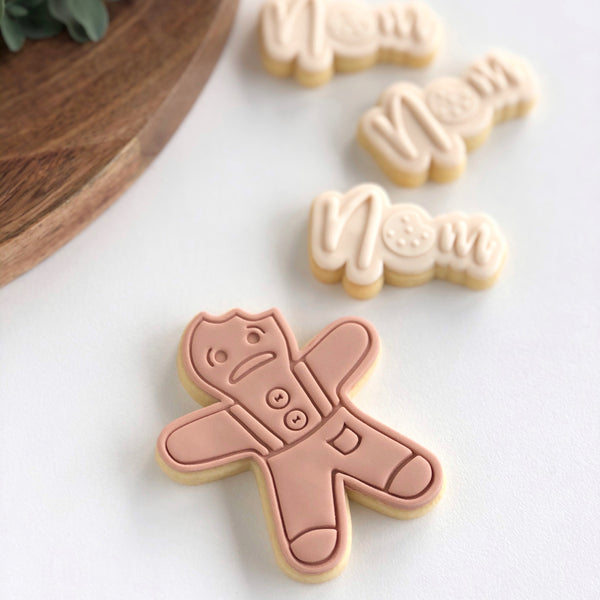 Gingerbread man Impression stamp with matching cutter