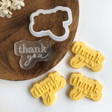 Thank you Power Pop Stamp with matching bubble cutter