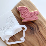 Sleigh pop stamp with cutter