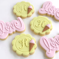 Love Power Pop! Stamp with matching cutter