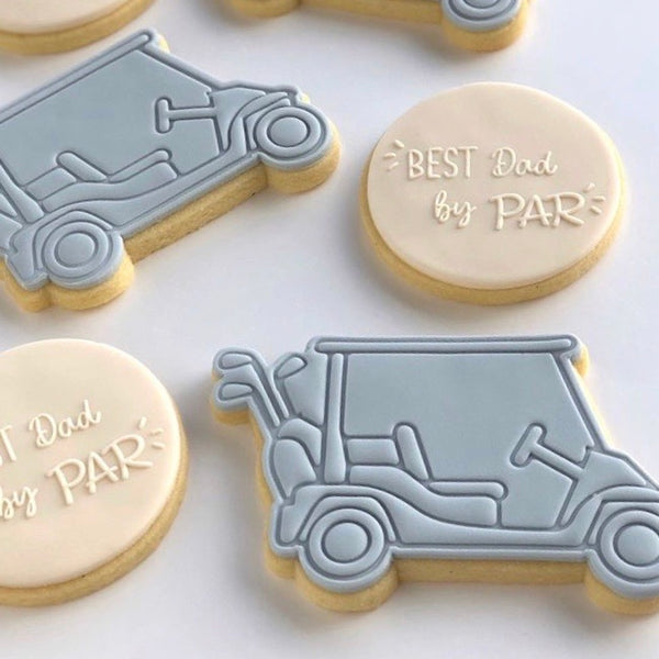 Golf Buggy stamp with cutter