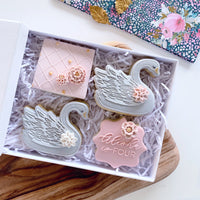 Large swan stamp with cutter