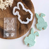 Bunny Pop! stamp with matching cutter
