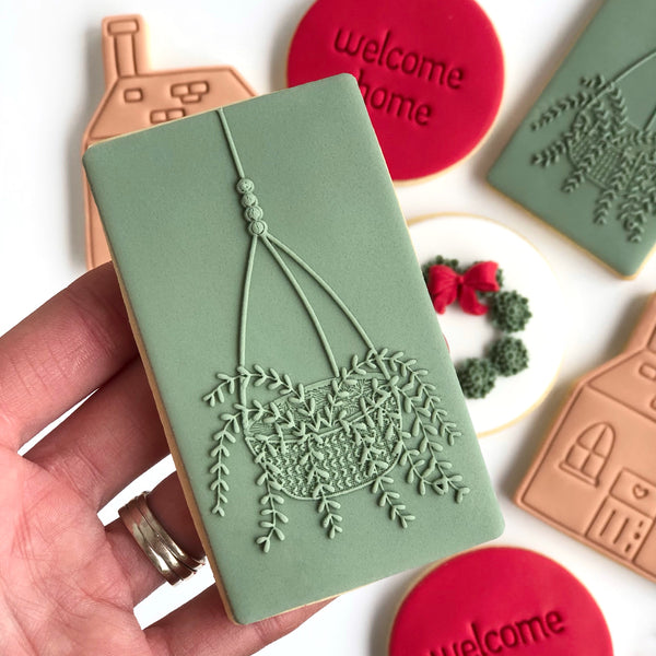 Hanging plant pop stamp only