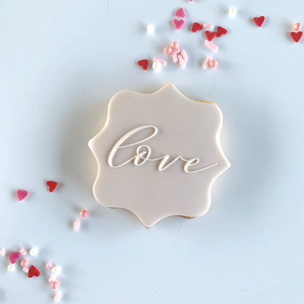 Love script- to suit 74mm square