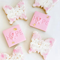 Hope awareness stamp with popped ribbon