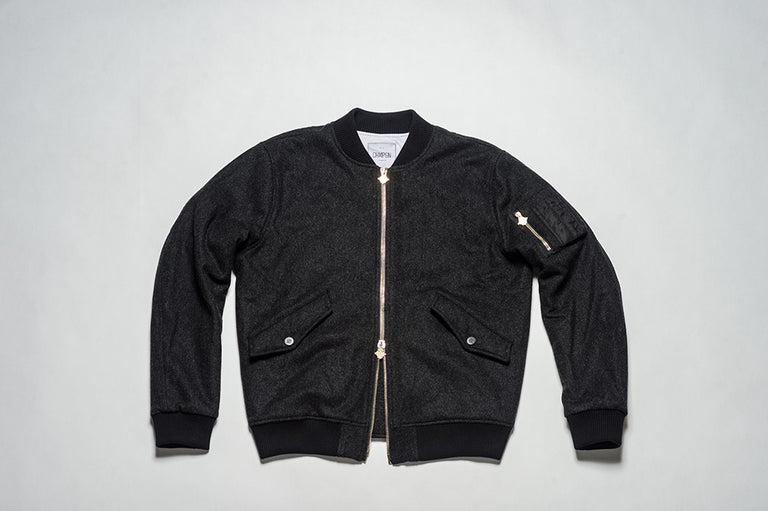 BOMBERS WOOL - ANGOLA BLACK