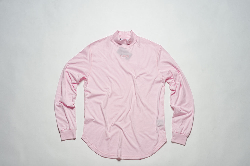 LONG SLEEVES WAVE - HIGH COLLAR - LIGHT PINK