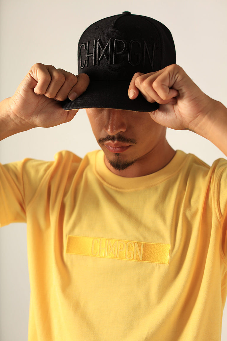 "T-SHIRT - CLASSIC CUT ""CHMPGN BAND"" - IMPERIAL YELLOW"