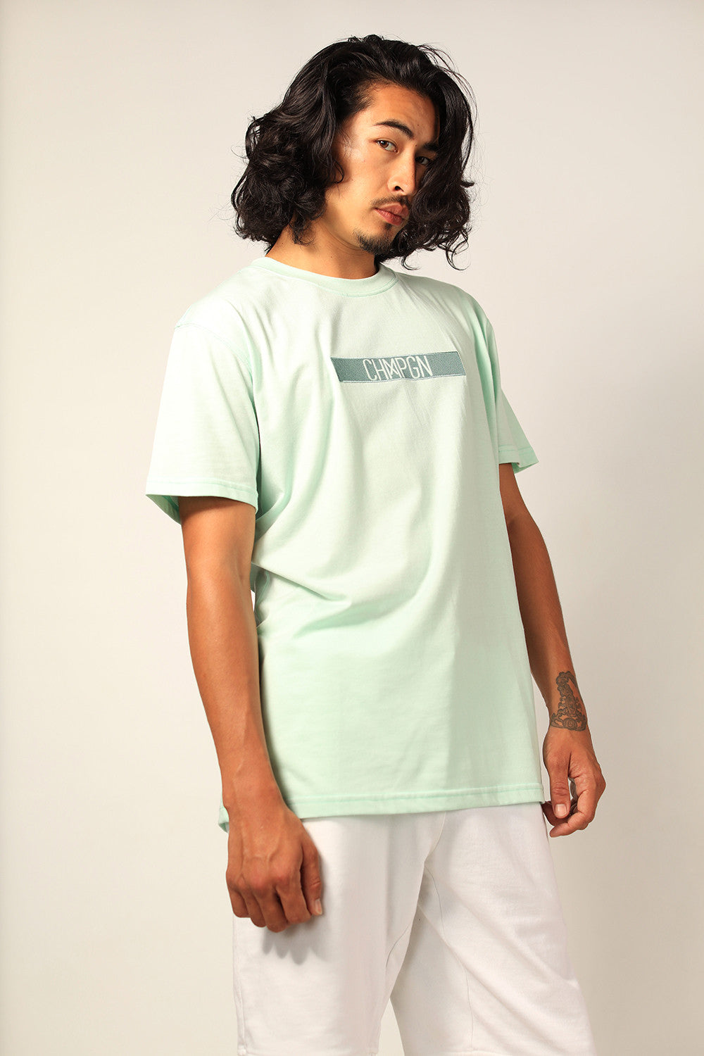 "T-SHIRT - CLASSIC CUT ""CHMPGN BAND"" - MINT"