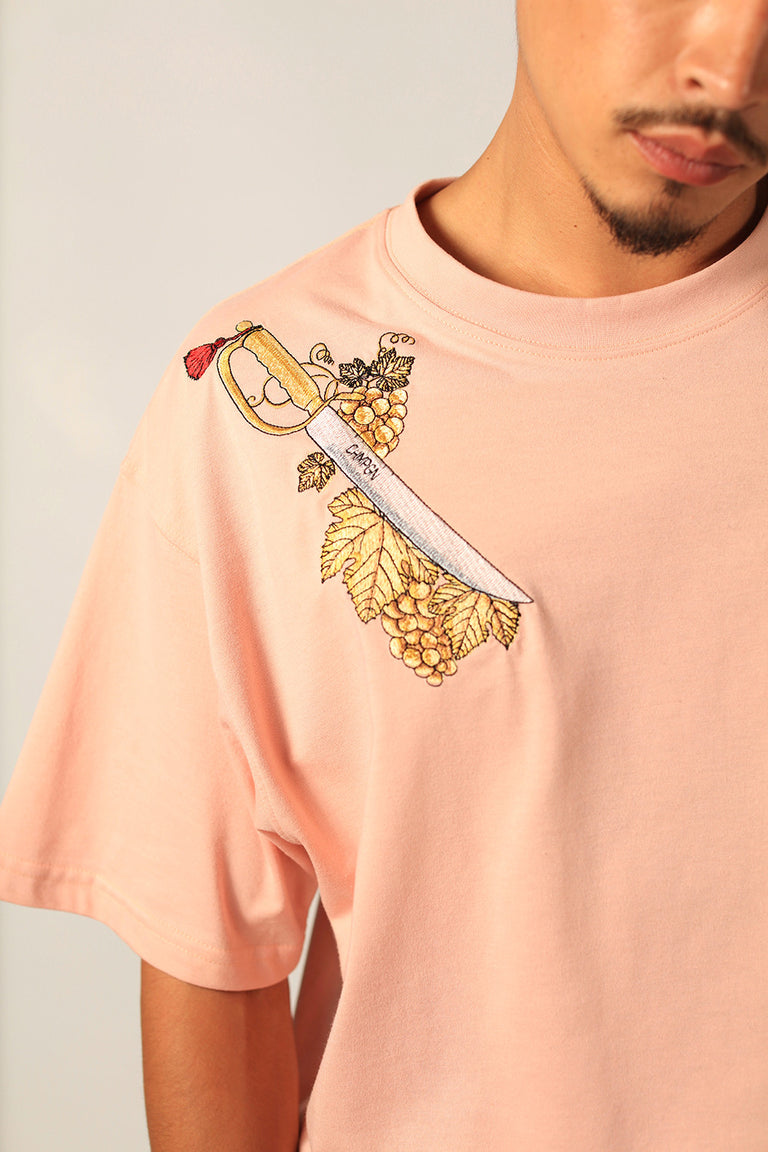 TEE OVERSIZED - COV SWORDS - BLUSH PINK