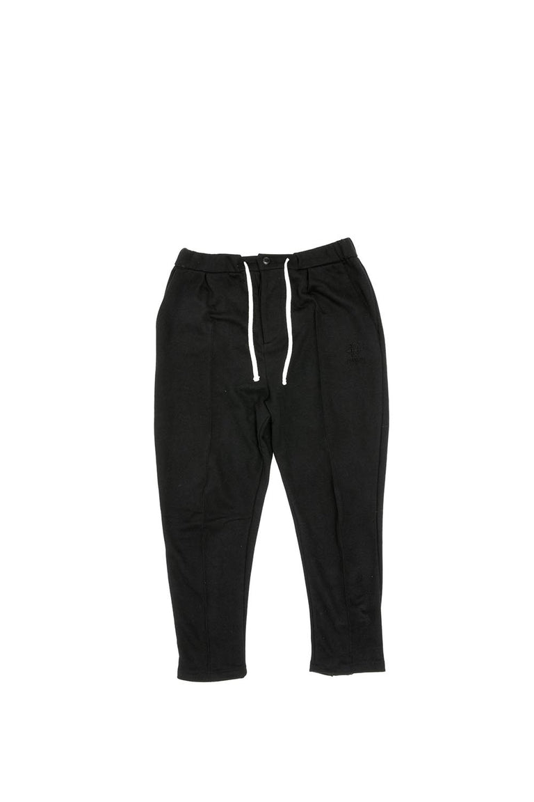 JOG ZIPPED CROP - BLACK