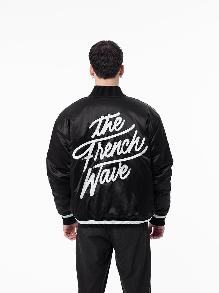 SATIN JACKET - THE FRENCH WAVE - RMXCHMPGN