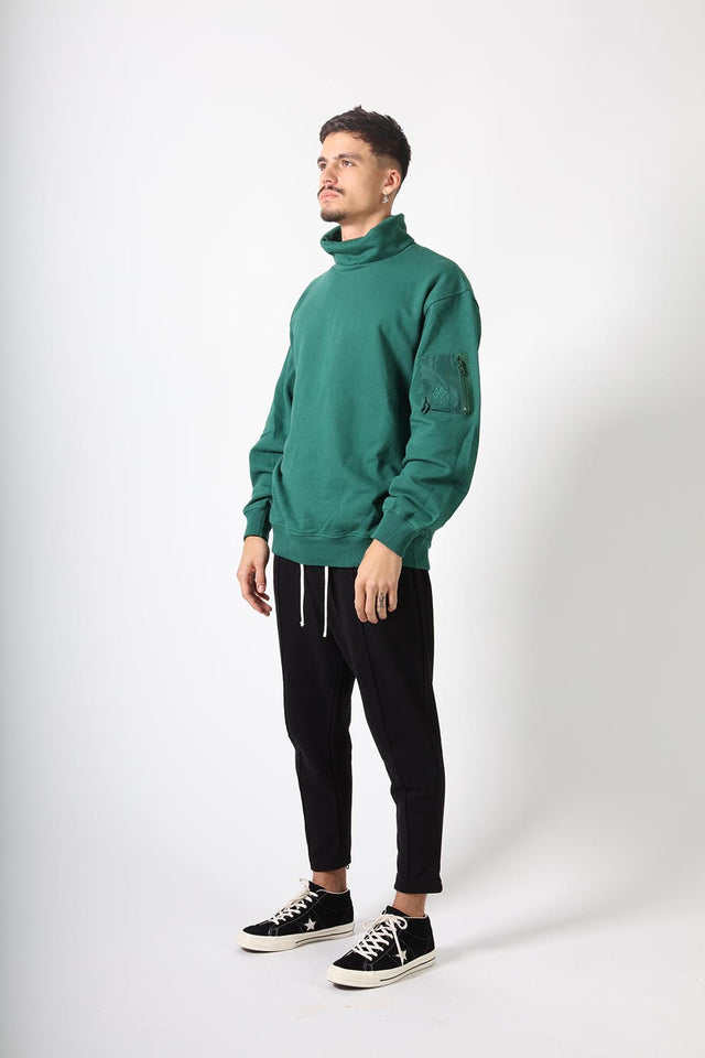 OVERSIZED TURTLENECK - GREEN ALPINE
