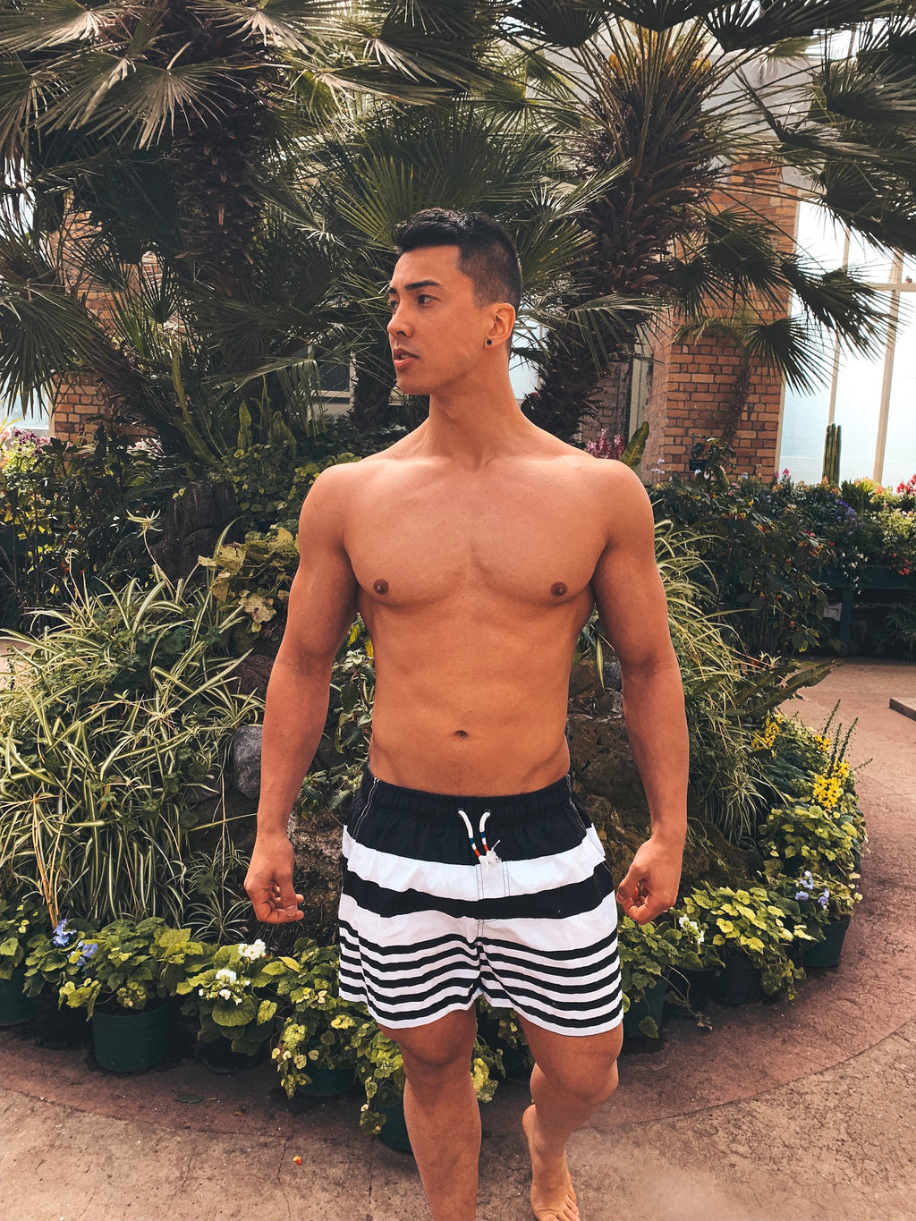 Black Stripe Boardshorts