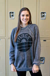 Three Crewneck Sweatshirt - Grey