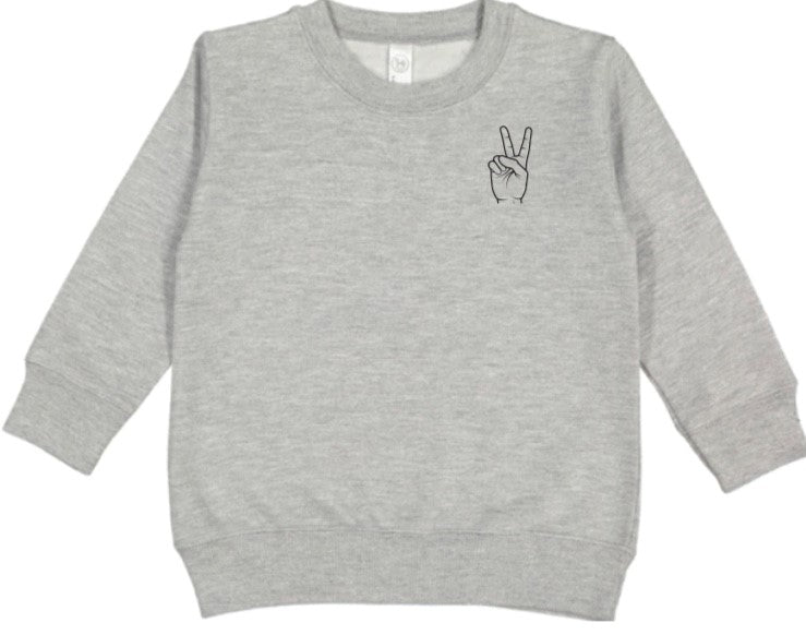 Toddler Peace Crewneck - Preorder for December Delivery