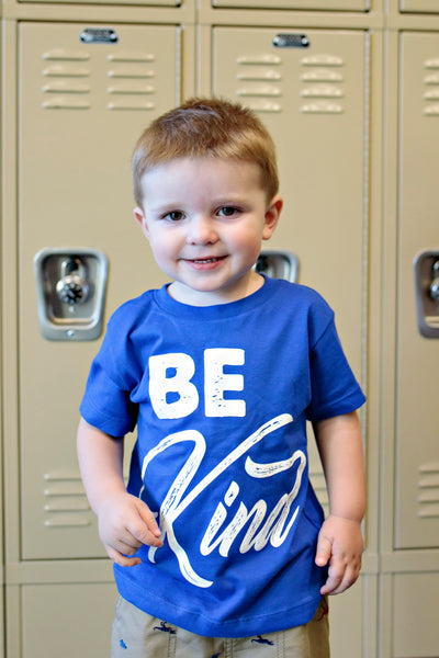 Be Kind Toddler Shirt - Blue - Backordered