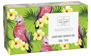 "Scottish Fine Soaps Luxury Soap Bars ""Paradiso "" Luxury Soap 220 g - British Moments"