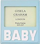 "Gisela Graham London, Kleiner Holzbilderrahmen  Shabby hellblau ""Baby"" ca. 10 x 10 cm - British Moments"