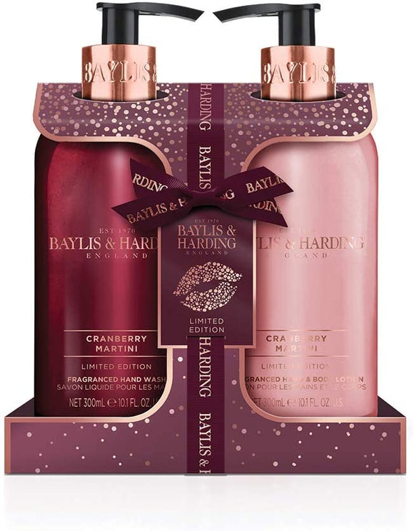 Baylis & Harding Cranberry Martini Set aus Seife und Hand& Body Lotion