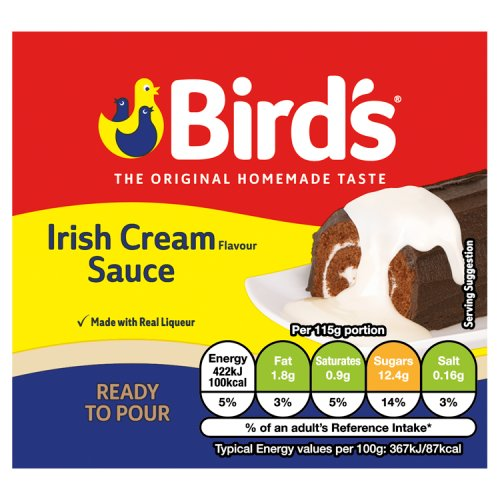 Birds Irish Cream Sauce, 465gr im Tetra Pak - British Moments