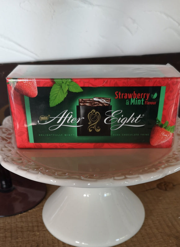 After Eight Strawberry  & .Mint , Täfelchen 200 gr, After Eight mal ganz anders in sommerlicher Verkleidung..... - British Moments