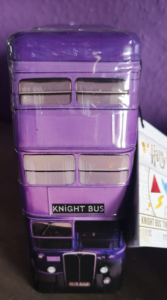 Harry Potter Knight Bus.  Blechdose mit 112 gr Fruchtbonbons (Jelly Beans) - British Moments