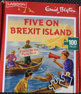 "Mini-Puzzle (nach Enid Blyton) 100 Teile ""Five on Brexit Island"" - British Moments"
