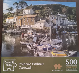 "Puzzle ""Polperro Harbour, Cornwall,"" 500 Teile - British Moments"