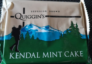 Quiggins Superior Brown Kendal Mint Cake 85 gr Tafel - British Moments