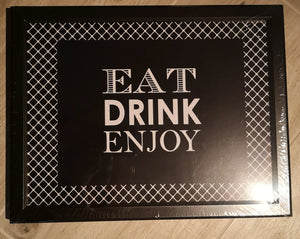 "Laptray, Knietablett  ""Eat Drink Enjoy"" - British Moments"