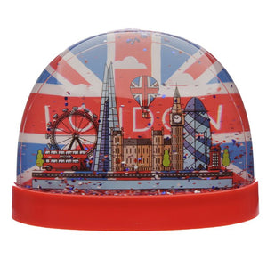 "Mini Schneekugel ""London Union Jack  Glitter, 1, 7x5.5x5.5cm - British Moments"